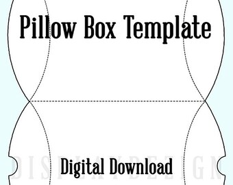 Pillow box template   Etsy