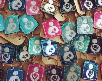 Baby wearing, Breast Feeding or Pumping Wrap Scrap Key Chain