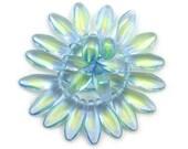 Pale Blue Uranium Yellow green center transparent larger size 17 x 7mm daggers. Set of 12, 25 or 50.
