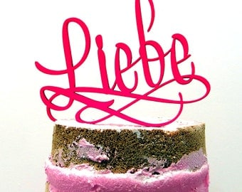 Cake topper - Liebe - Wedding
