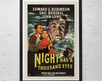 CLASSIC MOVIE POSTER -  Vintage Film Art Poster Edward G Robinson Movie Poster Film Noir Movie Classic Film Poster High Quality Reproduction