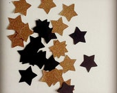 """100 1.5"""" Gold and Black Star confetti, Birthday Parties, Invitations, Wedding Shower Decor, Happy New Year, Baby Shower decorations"""