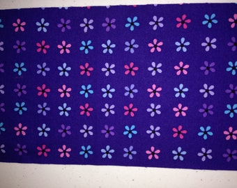 Purple Petals Burp Cloth