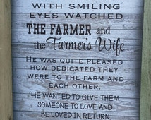 God Blessed The Farmer & Farmer Wife With A Family Wood Sign, Canvas, Print - Father's Day Gift