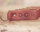 No.1 Tucker Keychain Groomsmen Gift Personalized Leather Key Chain Fob Groomsman Gifts,Anniversary Dad's Fathers Day Gift, groomsmen guys