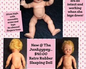 Old Doll Rubber Pedigree Roddy Sleeping Eyes