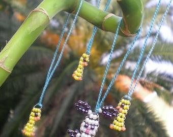 HAPPY Easter Set, Sweet beaded handmade EASTER pendants, OSTER-Set