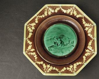 Wedgwood Majolica footed plate