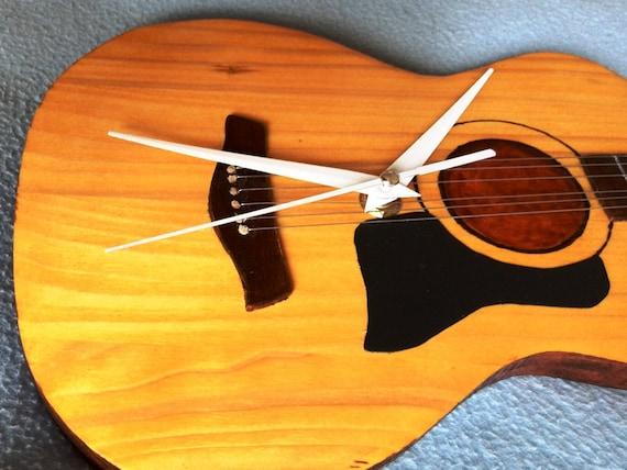 Music Instruments Guitar Clock Home Decor Acoustic By
