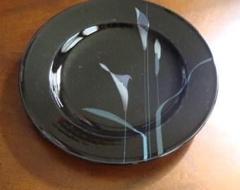 Mikasa GALLERIA OPUS - Black Rimmed Soup or Pasta Bowls (4)!