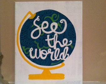 See the World Canvas Painting