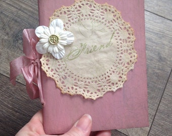Rustic Notebook-Christmas gift-Diary-Rustic Journal-Vintage Journal-Holiday gift