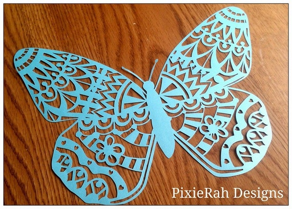 Butterfly paper cutting template personal use by for Butterfly paper cut out template