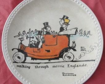 "Vintage 1982 Norman Rockwell Plate ""Walking Through Merrie Englande/First in Series"