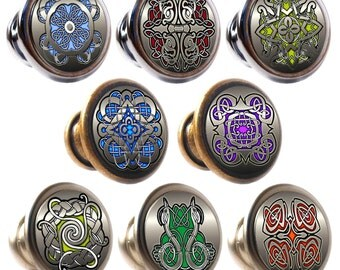 Marvelous Celtic Designs Decorated Zinc Alloy 30mm Drawer Cupboard Cabinet Knobs
