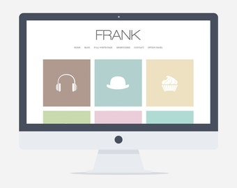 Frank - Wordpress Portfolio Theme - Premade - Self Hosted - Wordpress Blog Theme - Responsive