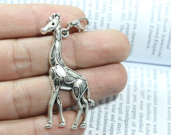 Antique Silver Lovely Giraffe Connector Link Charm Pendant Connectors Jewelry Accessories 53*23mm