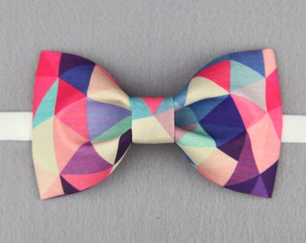 Color diamond Bowtie - Modern Boys Bowtie, Toddler Bowtie Toddler Bow tie,Pre Tied and Adjustable