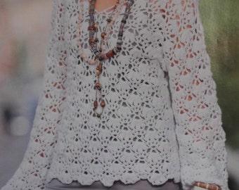 Handmade crochet top sweater tunic jumper women crochet clothes MADE TO ORDER