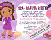 Spa Party Invitation - Pajama Birthday Party - Spa invitation - DIY Print Your Own - Choose Your Spa Girl