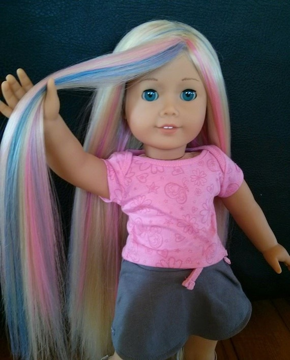 Items Similar To Custom American Girl Doll Wig On Etsy