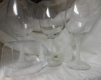Pearly Wine Glasses
