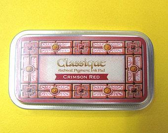 Tsukineko, Classique Ink , Crimson Red, CQ-11, Archival Pigment Ink Pad