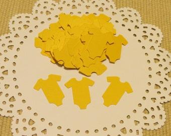 FREE SHIPPING Onesie Confetti, Baby Shower Confetti, Onesie Diecut, Onesie Cutouts, Baby Bodysuit