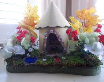 Sunny Spring Fairy house