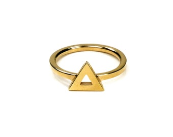 Geometric ring / Vermeil yellow gold / triangle