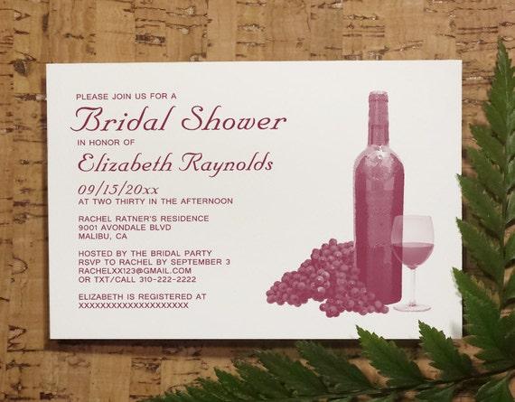 wine bottle bridal shower invitation template by invitationsnob. Black Bedroom Furniture Sets. Home Design Ideas