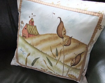 Country Field and Farm Cushion