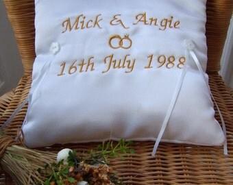 Personalised Wedding Ring Cushion / Pillow & Wedding ring cushion   Etsy pillowsntoast.com