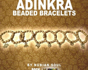 Beaded Bracelets with ADINKRA Charms