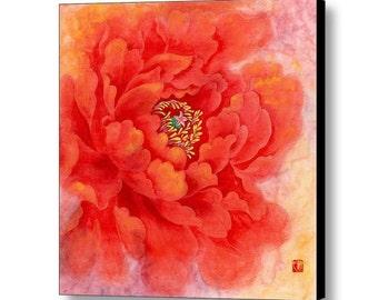 Watercolor Flower Art Print- Canvas Art-Chinese Art Print - Flower Painting- Flower Art