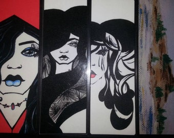 Bookmarks Set C -HANDCRAFTED- (from original artwork)