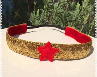 Wonder Woman running costume headband 1 inch wide non slip