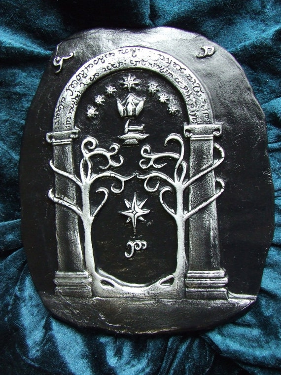 Items similar to Lord of the Rings Mines of Moria door Speak Friend ceramic display ornament LOTR geeky gift on Etsy & Items similar to Lord of the Rings Mines of Moria door Speak ...