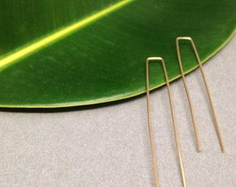 Modern 14k Gold Filled Wire Minimal Earrings