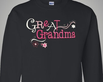 Don't forget Great Grandma on Mother's Day | Great Grandma Gift Shirt | Completely Personalized with her Grandchildren's Names!