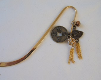 Bookmarker Oriental style with dangles   BM3