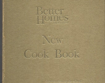 Better Homes and Gardens New Cook Book Souvenir Edition Gold HC 1965
