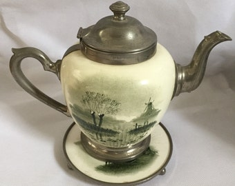 German Teapot with Stand - Vintage