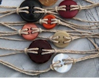Cute as a button braclet. But two get one free!