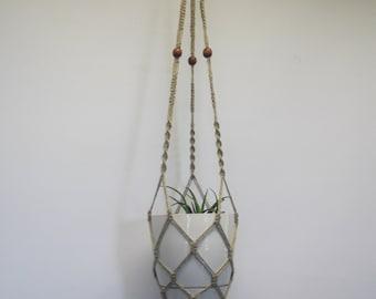 Coton macram plante cintre jardini re suspendue support de - Suspension pot de fleur macrame ...