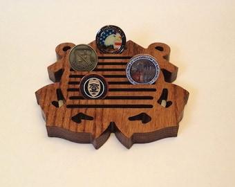 Small US Coast Guard Coin Holder