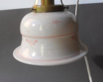 Ceramic Lamp/Ceramic Lamp suspended/White ceramic Lamp