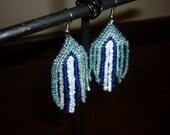 Beaded Blue Earrings