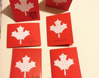 Canadian card with maple leaf, eh, oh canada, canadian, made in Canada, Made in Canada