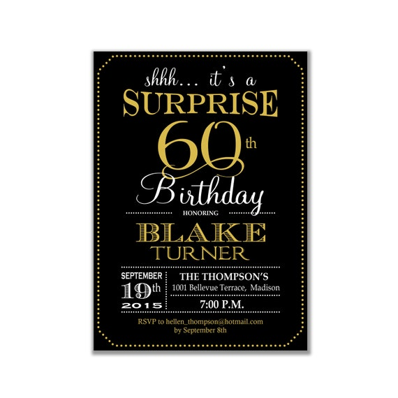 40Th Birthday Surprise Invitations as amazing invitation layout